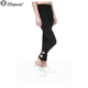 Black Custom Leg Opening Bowknot Strap Fitness Leggings Women Girls Leggings Tights