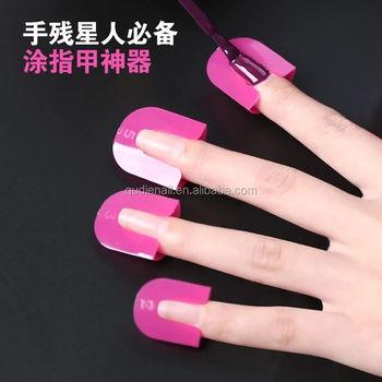 Nieuwe Roze Kleur Resuable Plastic Nagellak Protector Clip Nail Art