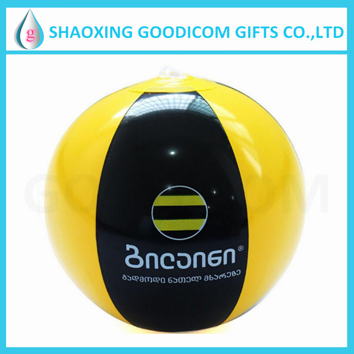 advertising PVC beach ball inflatable with logo printing