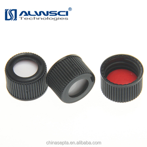 13mm black open top Screw plastic Cap for Autosampler vial