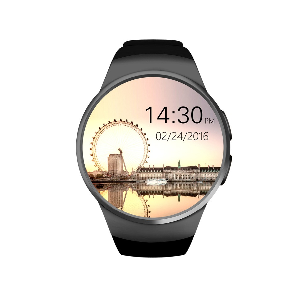 Kw18 Smartwatch Bluetooth Heart Rate Monitor Wrist Pedometer Watch Round Screen Smart Watch KW18