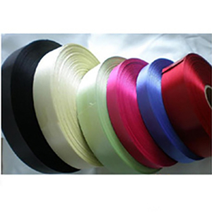 Factory Manufactured best sales polyester striped adhesive satin ribbon