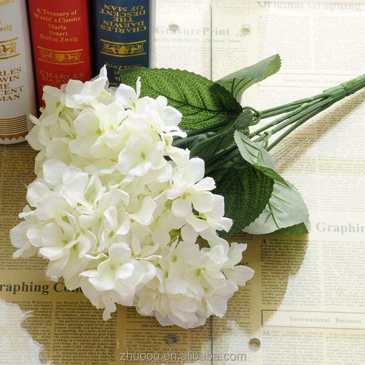 6 Fork Hydrangea <strong>Flower</strong> for Wedding Artificial <strong>Flower</strong> Wedding Centerpiece
