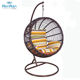 indoor plastic rattan hanging swing chair egg shaped chair