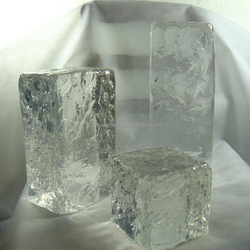 Clear large size polyester resin artificial ice block for Large acrylic block