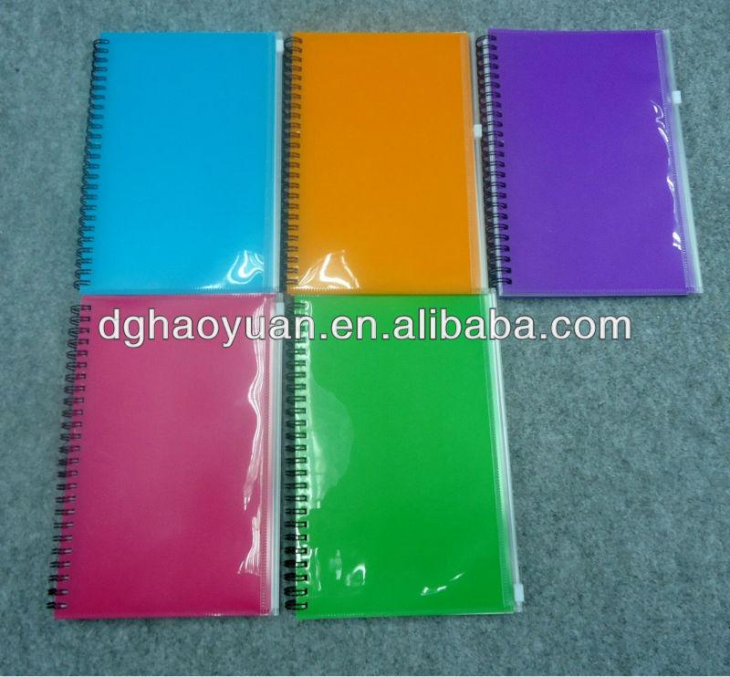 Plastic Cover Pocket Spiral Bound Notebook