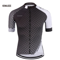 KEMALOCE pro plain black breathable original cycling jerseys clothing sublimation bicycle shirt