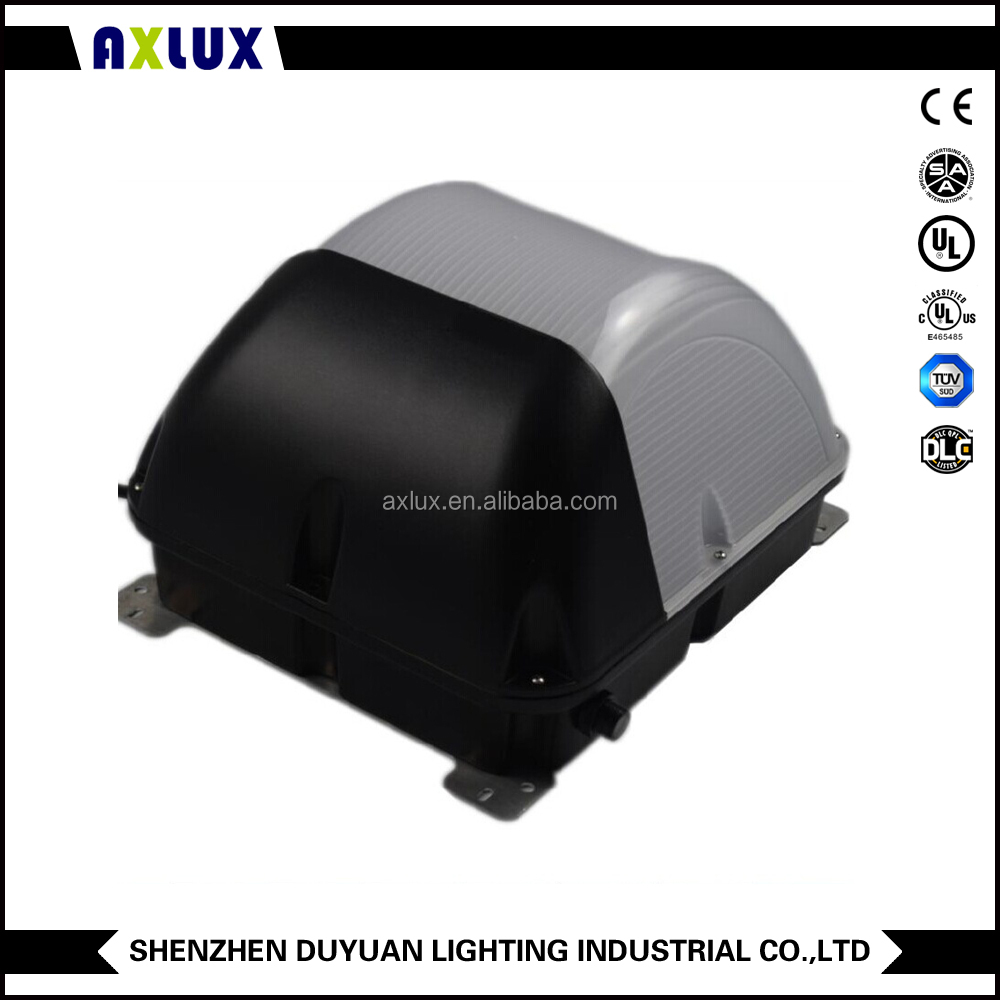 DLC 60W 80W 100W 120W Led Wall pack Stone wall sidewalk lighting Ra>75 Chip Mean Led driver 5 years