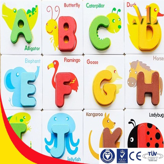alphabet flashcards children education diy toys animal farm card toys