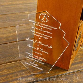 Custom Engraved Clear Acrylic Invitations Wholesale Buy Acrylic