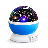 Indoor decor romantic design USB or battery powered dream rotating LED kids laser stars projector night light