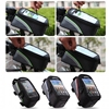 "Waterproof Travel Handlebar Bicycle Zip Bag Front Basket Cycling Motorcycle Bike Phone Case for 4.2"" to 5.5"" Mobile Phones"