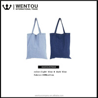 Free Shipping Wholesale Solid Canvas Denim Tote Bag