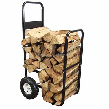 Outdoor Garden Portable Foldable Steel Firewood Log Cart Fireplace