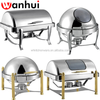 New Style Stainless Steel Roll Top Chafing Dish for hotel & Retaurant