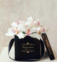 factory custom unique round waterproof flower hat box