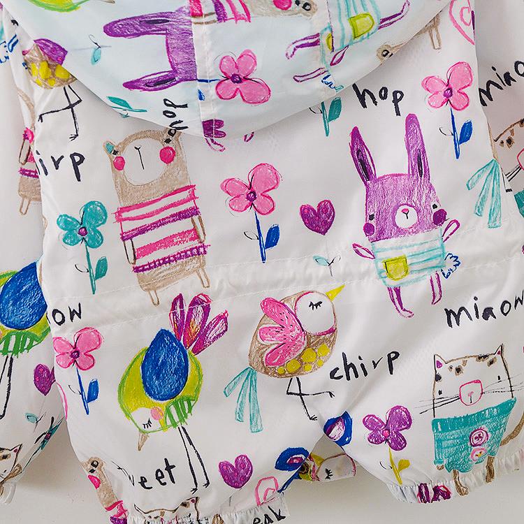 2020 alibaba hot sale new spring graffiti kid polyester jacket girls kid coat