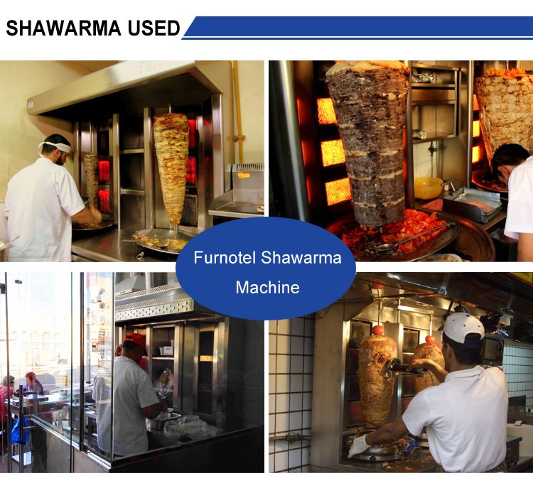 K163 Electric/Gas Shawarma Meat Kebab Machine