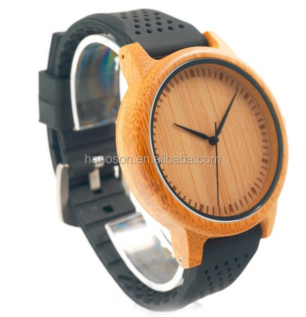 Fashion new products sport silicone strap wooden watch men womens cheap custom logo wooden Watches with custom logo