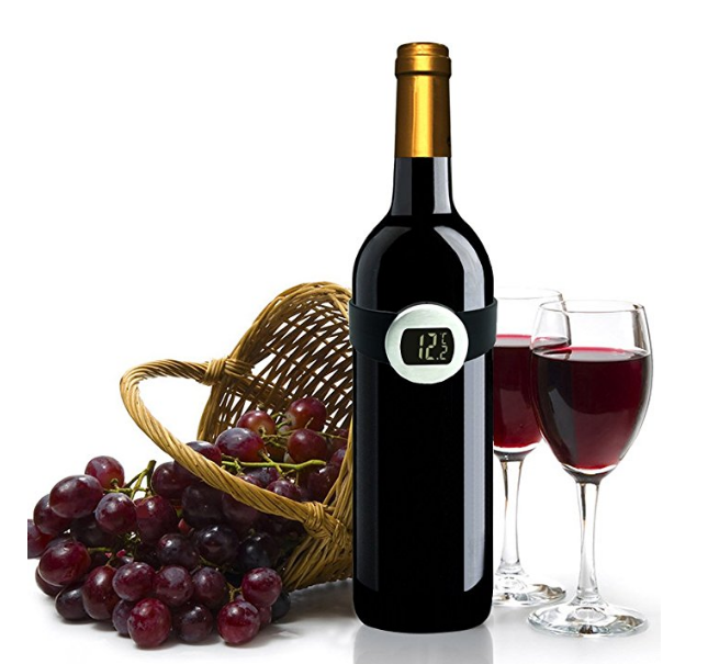 Mini Electronic Digital Display Wine Grape Bottle Thermometer Temperature Meter