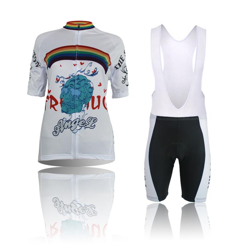 Get Quotations · 2015 new women animation cartoon rainbow cycling jersey+ funny panda biking shorts novelty cycle sets eb5271a09