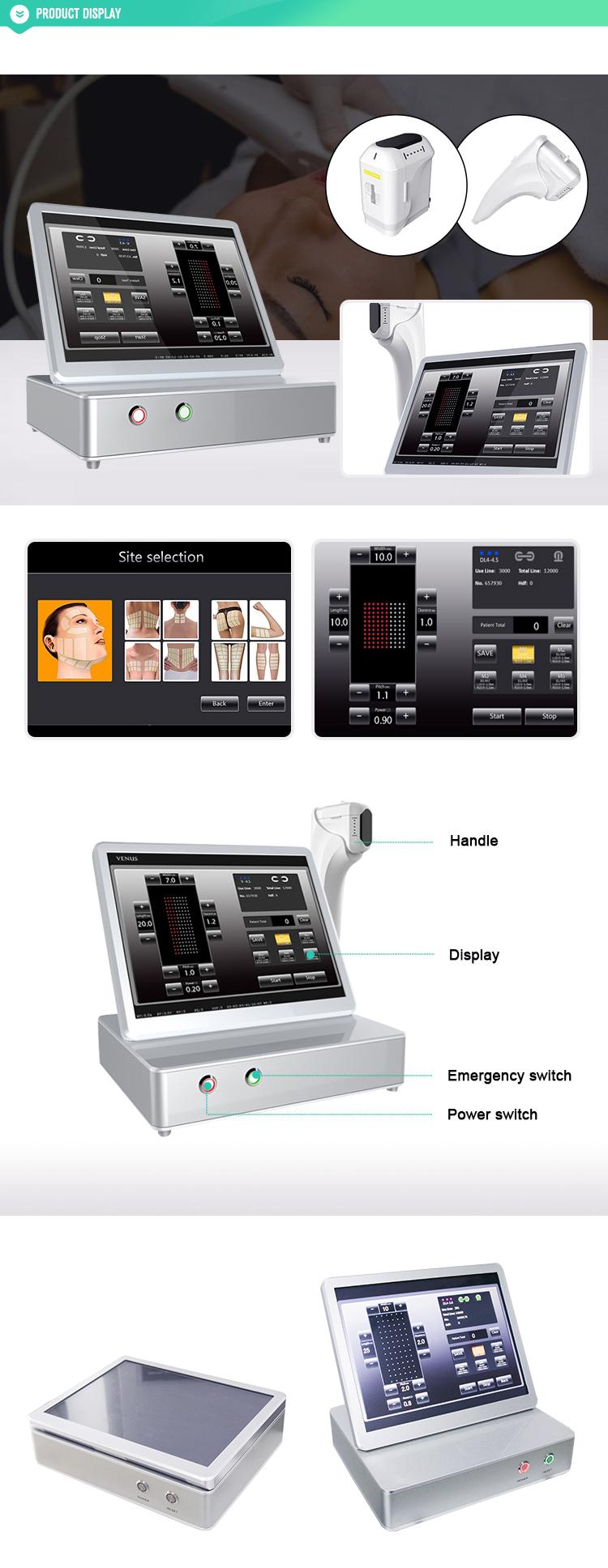 高周波操作システムとしわリムーバー機能hifu 2d 3d hifu価格