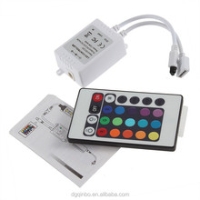 24 key Infrared RGB led controller with IR remote for RGB led lights
