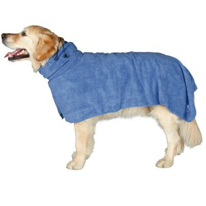 Super Absorbent and Quick Dry Wearable Microfiber bath towel for medium to large sized dogs /pet bath towel