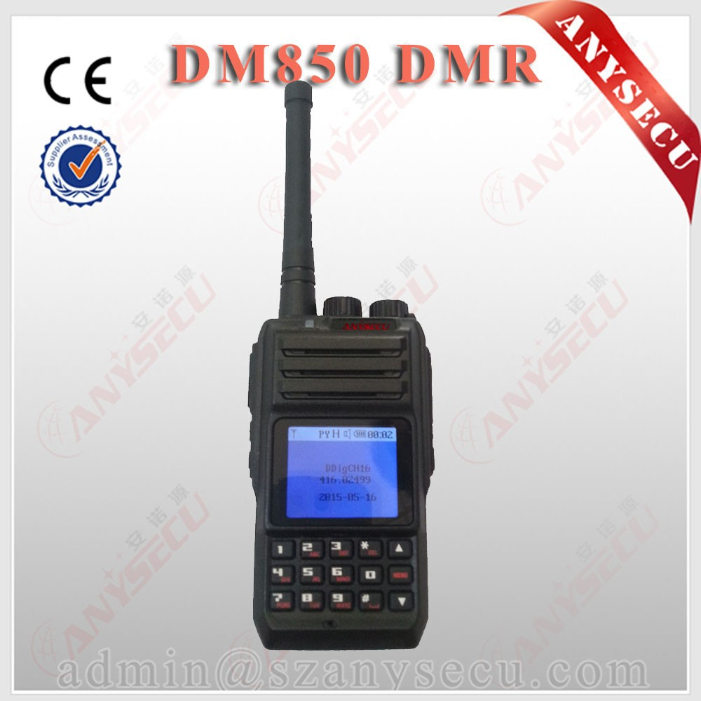 Simple Operation Sub audio / Digital GPS built in tone ANYSECU DM850 vhf walkie talkie
