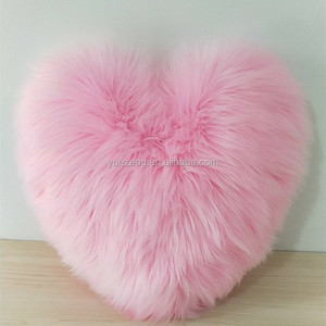 50cm 50cm heart shaped faux fur pillow faux fur cushion fur pillows