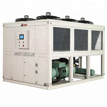 AGS-100ASH PET Preform แม่พิมพ์อุตสาหกรรม Air Cooled Screw Chiller ระบบการทำงานสกรูคอมเพรสเซอร์ chiller water cooler
