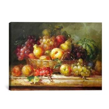 Güzel Natürmort Meyve Yağlıboya üzüm Ve şeftali Buy Boyamahala