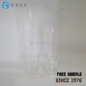 Long And Thin Neck Single Flower Tall Clear Glass Square Vases Buy