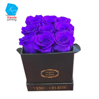 luxury high quality mini cardboard paper flower gift box for rose