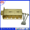 New Product Hot Sale Big Size Brass Material Safe Deposit Dual Key Door Lock for Safe Boxes