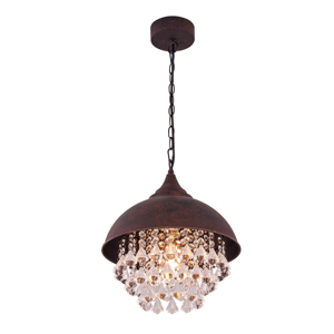 Modern Vintage Iron Shaded Glittering Large Chinese Crystal lighting Beads industrial Metal Hanging Pendant Light Chandelier
