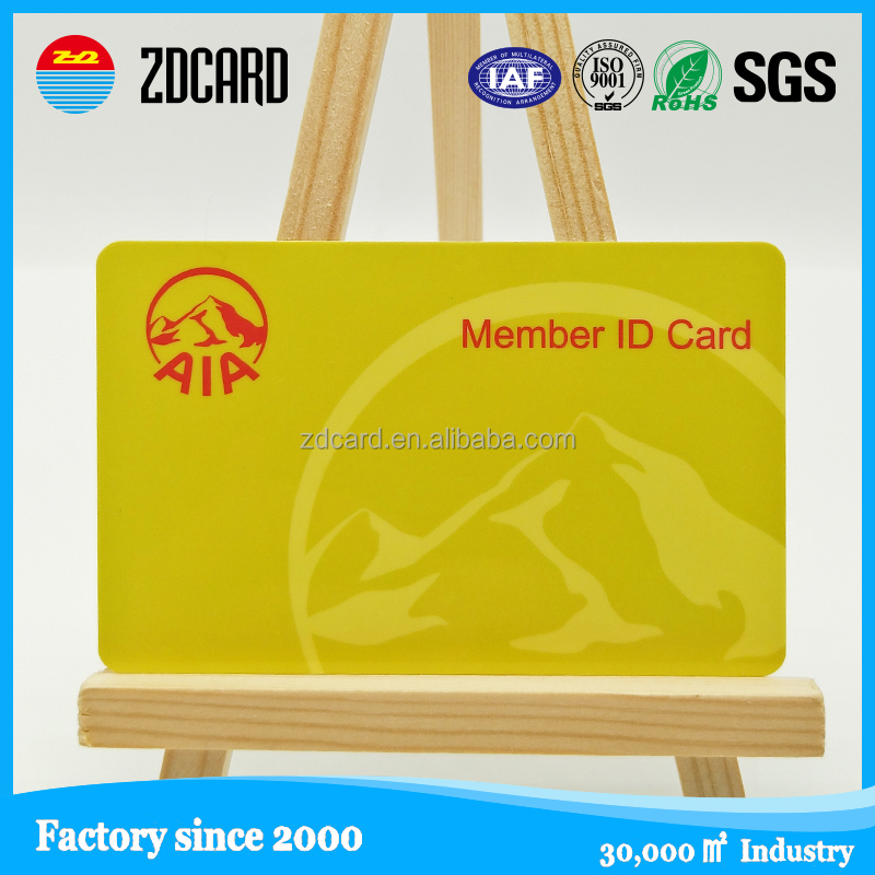 Top Quality PVC embossing numbers M1 S70 RFID signature card for membership