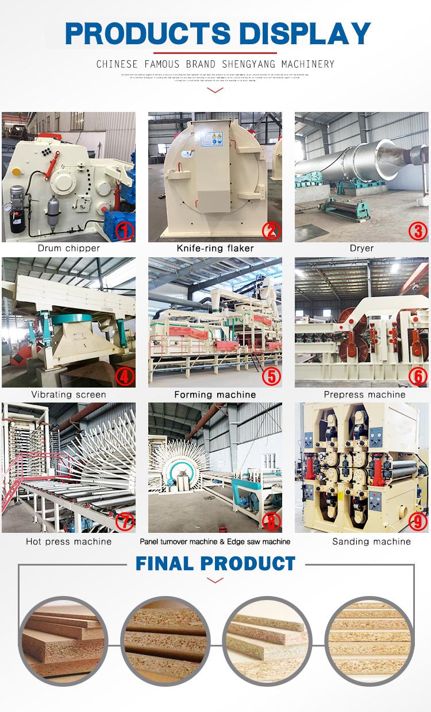 Volledige automatische spaanplaat/spaanplaat productielijn met hoge kwaliteit
