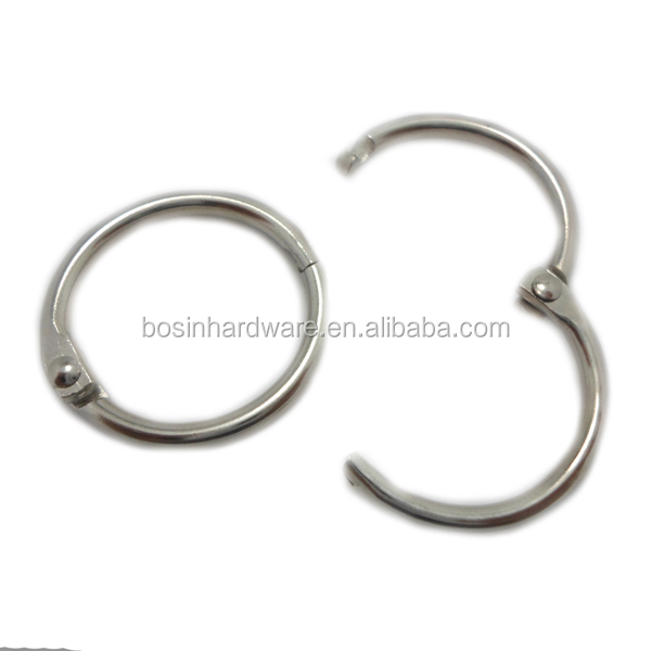 Fashion High Quality Metal Snap Binder Ring