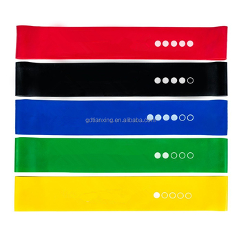 414b91694 TX Exercise Resistance Loop Bands Set of 5 Physical Therapy Fitness Theraband  Stretch Yoga Band