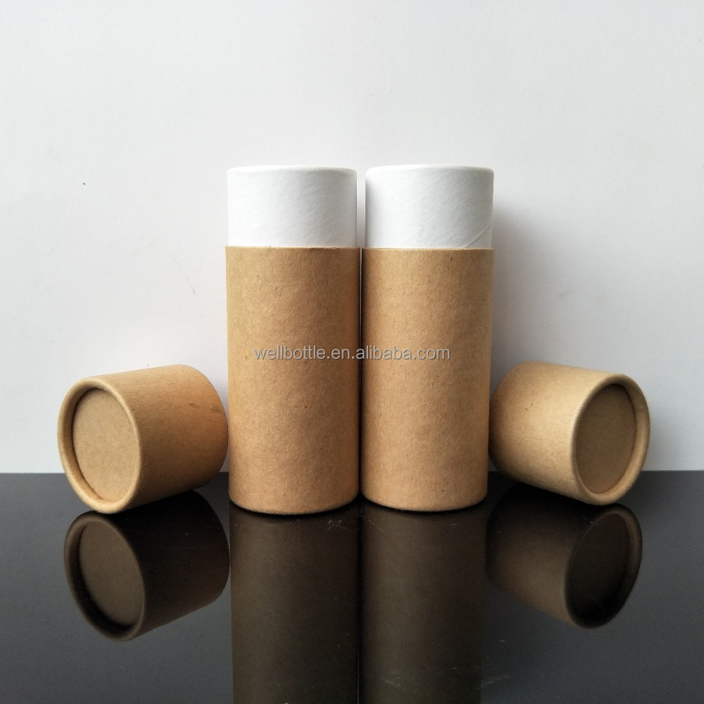 Round kraft paper tube packaging wholesale for tea biodegradable cardboard paper tube