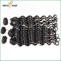 meya hight grade 100% Virgin Remy Indian Hair,wholesale 100 Human Hair Thick Ends from alibaba
