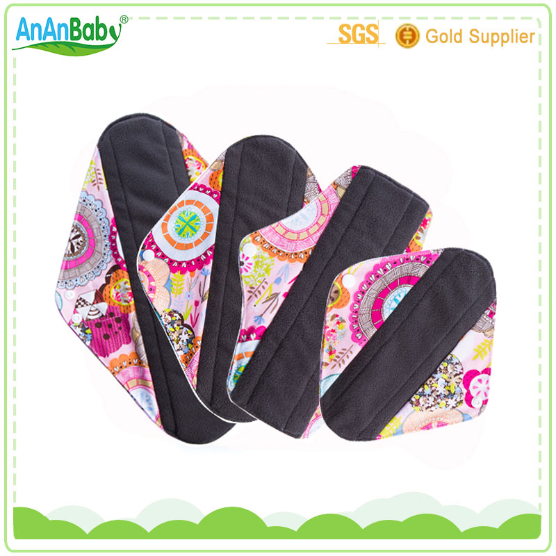 OEM Reusable Washable Female Bamboo Menstrual Pad Cloth Sanitary Pad