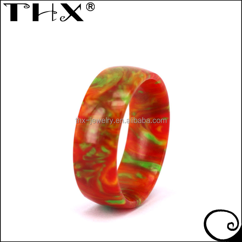 Chose Your Own Color Fashion Unique Custom Made Plastic Wedding Ring
