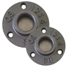 1/2 3/4 1 inch black pipe floor flange For Handrail Wall Mount BST Threaded