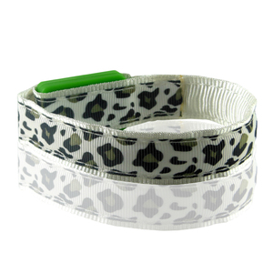 party flashing LED leopard bracelet in wristband lock