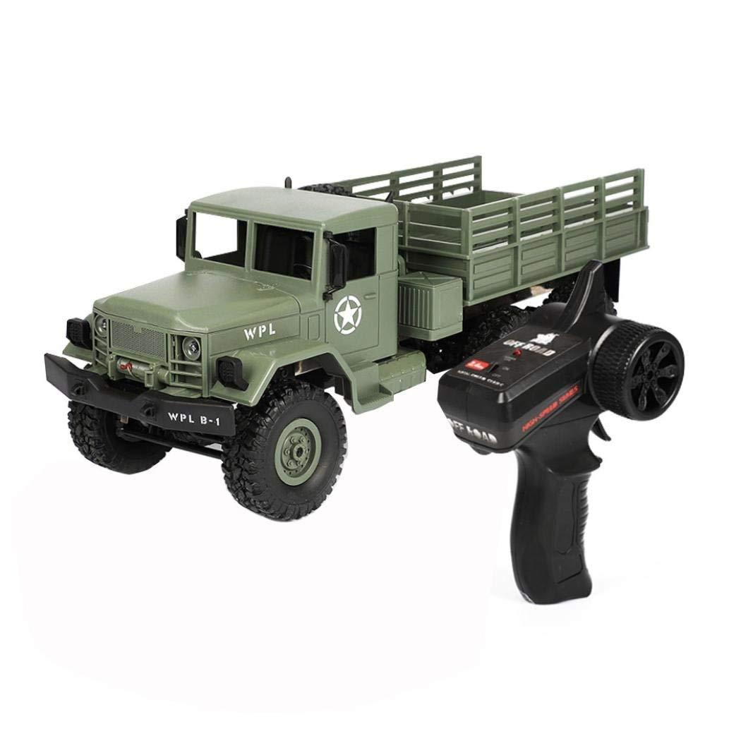 Remote Control Car Military Truck WPL B-16 1:16 4WD RC Military Truck Wireless Remote Control Car Kid's Toy (Army Green)