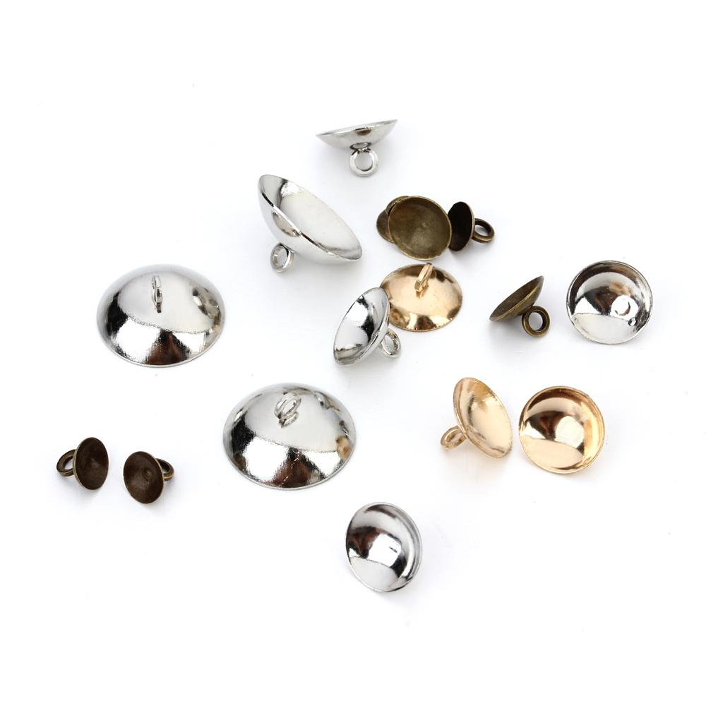 6mm 8mm 10mm 15mm metal gold plated bell bead caps with small ring <strong>hole</strong> for jewelry making