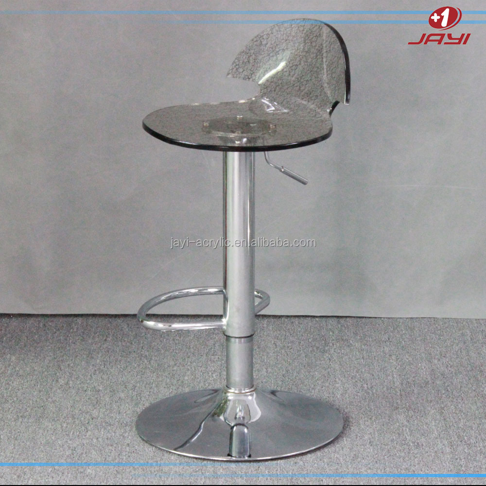 Jayi Acrylic Furniture swivel bar stool high chair standing stools chairs with lucite seat