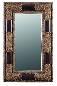 Galaxy Home Decorations G009 Traditional Brown Wall Mirror - 92.5 x 57 x 4.13 in.